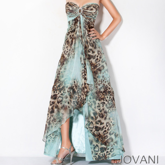 abcc216b7f Jovani Dresses   Skirts - Jovani Animal Print Dress 3438 + Matching Scarf